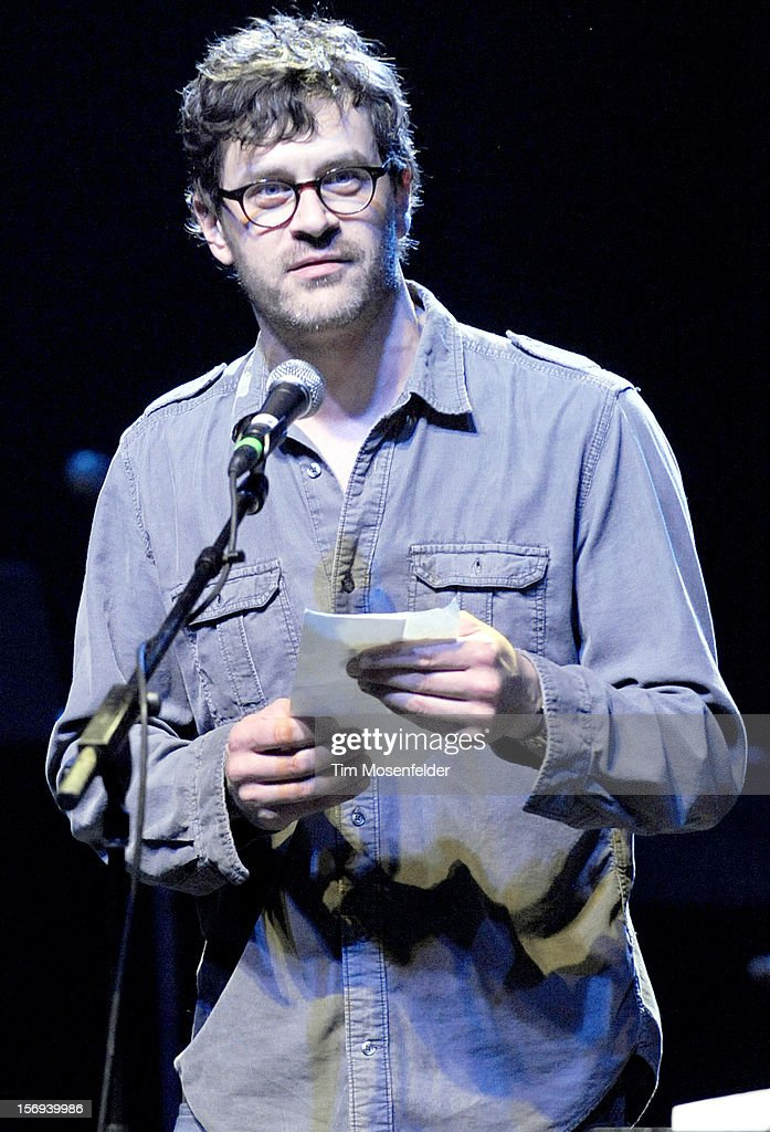 Mike Kelly performs spoken word during The Last Waltz Tribute Concert at The Warfield on November 24, 2012 in San Francisco, California.