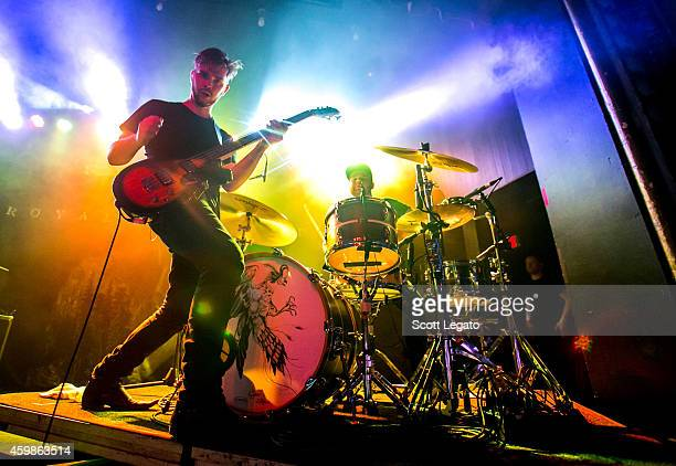 Mike Kerr and Ben Thatcher from Royal Blood perform at St Andrews Hall on December 2 2014 in Detroit Michigan