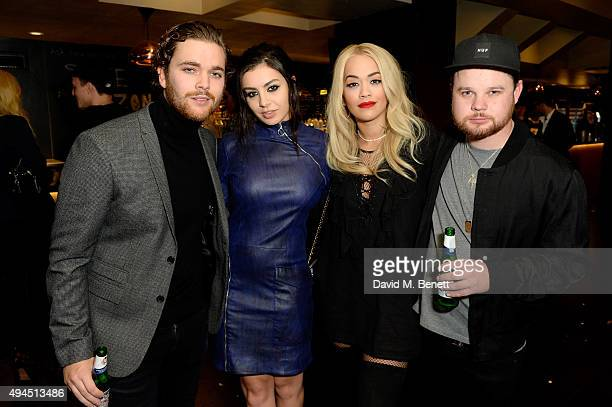 Mike Kerr and Ben Thatcher of Royal Blood and singers Charli XCX and Rita Ora attend the Al Films and Warner Music Screening of Kill Your Friends on...
