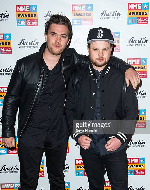 Mike Kerr and Ben Thatcher of Royal Blood attend the NME Awards at Brixton Academy on February 18 2015 in London England