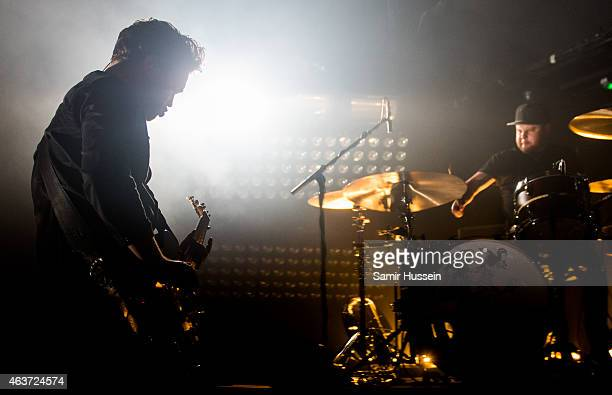 Mike Kerr and Ben Thatcher of Royal Blood perform as part of Brits Week Presents at KOKO on February 17 2015 in London England