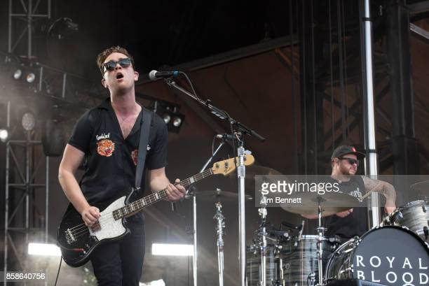 Mike Kerr and Ben Thatcher of Royal Blood perform live on stage during Austin City Limits Festival at Zilker Park on October 6 2017