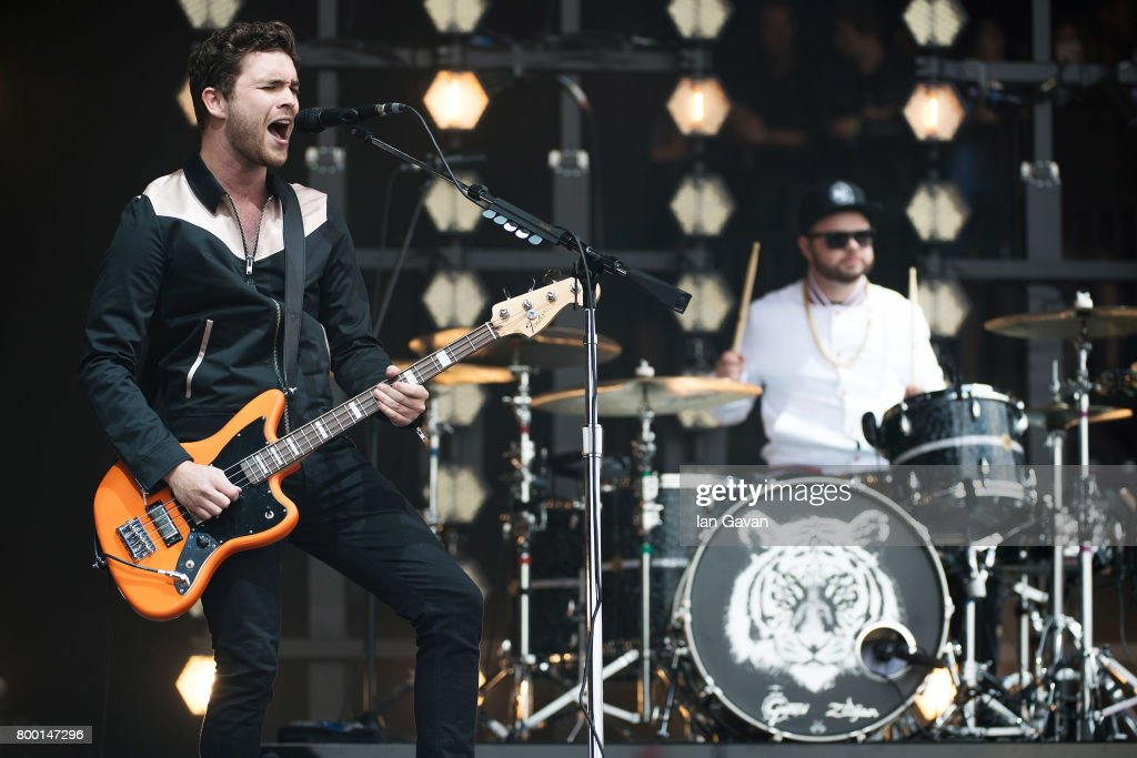Mike Kerr and Ben Thatcher of Royal Blood perform on day 2 of the Glastonbury Festival 2017 at Worthy Farm, Pilton on June 23, 2017 in Glastonbury, England.