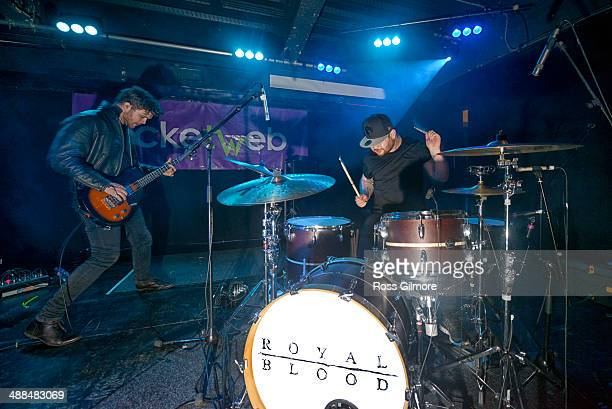 Mike Kerr and Ben Thatcher of Royal Blood perform on stage at 02 ABC during the Stag and Dagger music festival on May 4 2014 in Glasgow Scotland