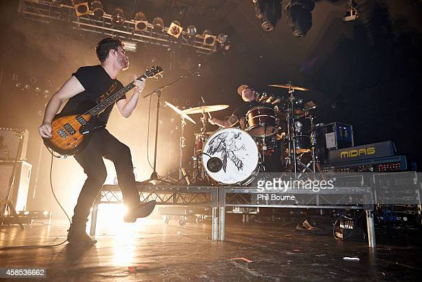 Mike Kerr and Ben Thatcher of Royal Blood perform on stage at Electric Ballroom on November 6 2014 in London United Kingdom