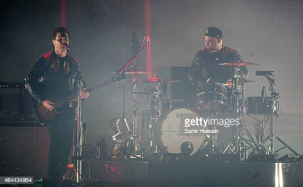 Mike Kerr and Ben Thatcher of Royal Blood perform on stage for the BRIT Awards 2015 at The O2 Arena on February 25 2015 in London United Kingdom