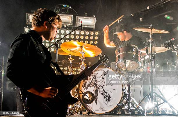 Mike Kerr and Ben Thatcher of Royal Blood performs as part of Brits Week Presents at KOKO on February 17 2015 in London England