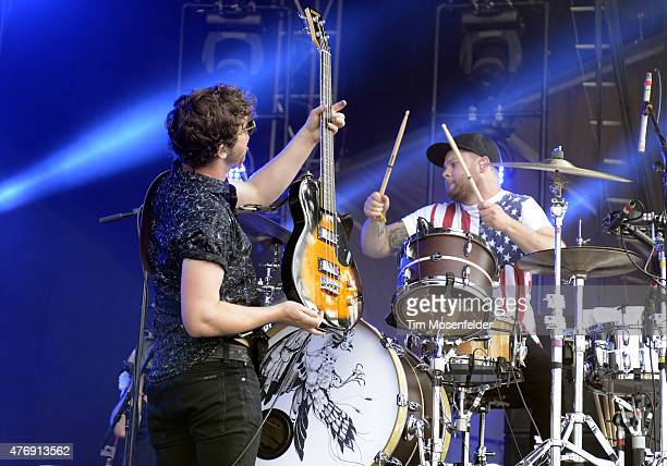 Mike Kerr and Ben Thatcher of Royal Blood performs during the 2015 Bonnaroo Music Arts Festival on June 12 2015 in Manchester Tennessee