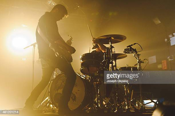 Mike Kerr and Ben Thatcher of Royal Blood performs on stage at O2 Academy on January 8 2015 in Oxford United Kingdom