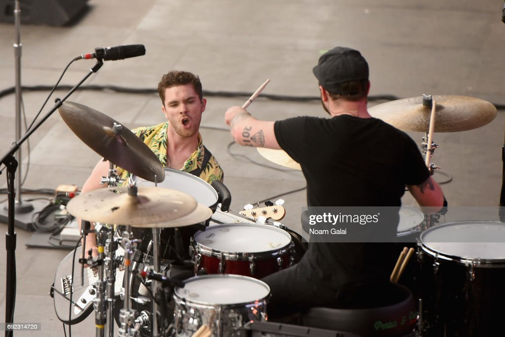 Mike Kerr and Ben Thatcher of Royal Blood performs onstage during the 2017 Governors Ball Music Festival - Day 3 at Randall's Island on June 4, 2017 in New York City.
