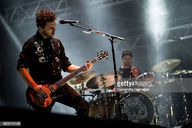 Mike Kerr and Ben Thatcher of the band Royal Blood performs for fans during Splendour in the Grass on July 26 2015 in Byron Bay Australia