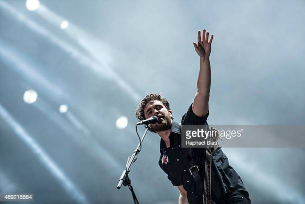 Mike Kerr from Royal Blood performs at 2015 Rock in Rio on September 19 2015 in Rio de Janeiro Brazil