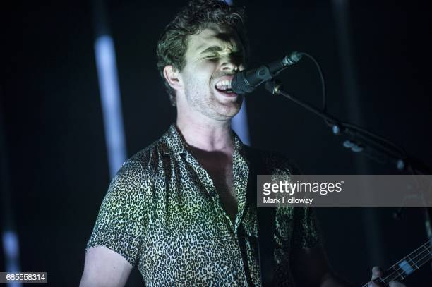 Mike Kerr of Royal Blood performs at O2 Guildhall on May 19 2017 in Southampton England