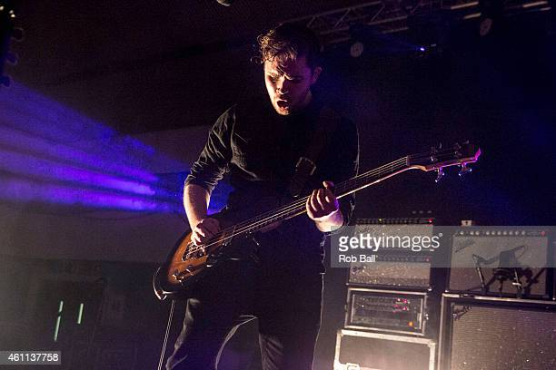 Mike Kerr of Royal Blood performs at Portsmouth Pyramids on January 7 2015 in Portsmouth England