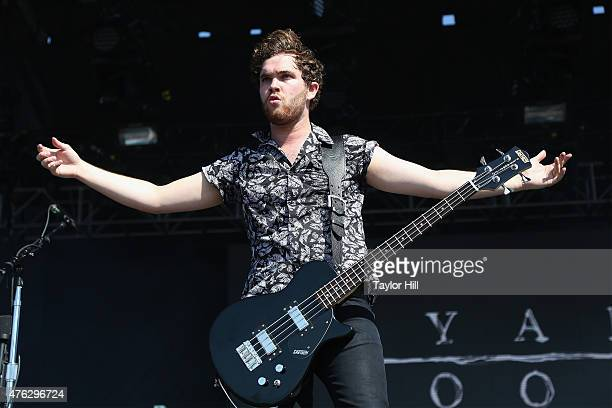 Mike Kerr of Royal Blood performs during the 2015 Governors Ball Music Festival at Randall's Island on June 7 2015 in New York City