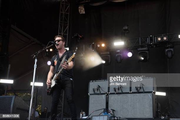 Mike Kerr of Royal Blood performs live on stage during Austin City Limits Festival at Zilker Park on October 6 2017 in Austin TX