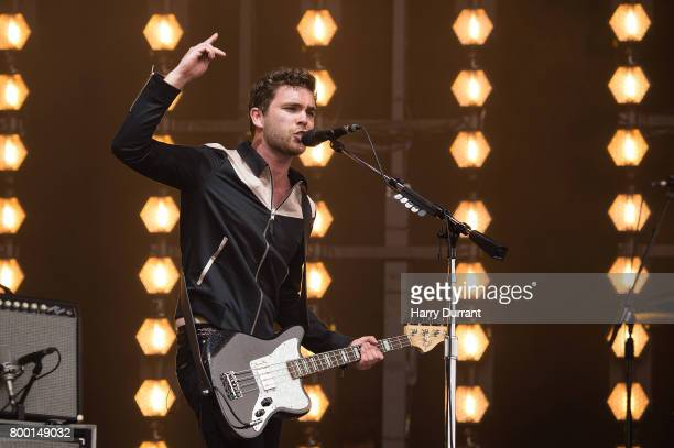 Mike Kerr of Royal Blood performs on day 2 of the Glastonbury Festival 2017 at Worthy Farm Pilton on June 23 2017 in Glastonbury England