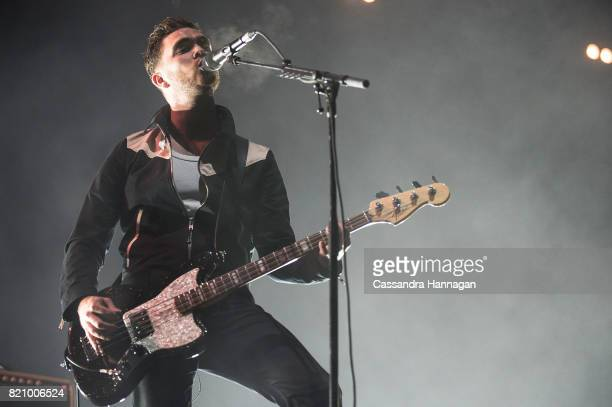 Mike Kerr of the band Royal Blood performs during Splendour in the Grass 2017 on July 22 2017 in Byron Bay Australia