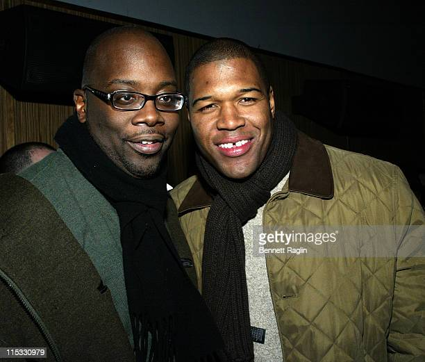 Mike Kizer and Michael Strahan during Def Jam Interactive and Electronic Arts Celebrate the Release of 'Def Jam ICON' at Ultra in New York New York...