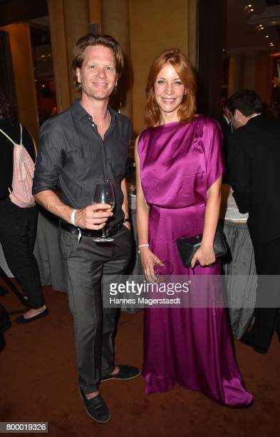 Mike Krauss and Annika Ernst during the opening night of the Munich Film Festival 2017 at Bayerischer Hof on June 22 2017 in Munich Germany