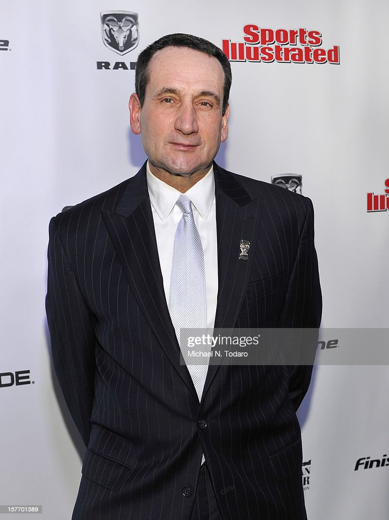 Mike Krzyzewski attends the 2012 Sports Illustrated Sportsman of the Year award presentation at Espace on December 5, 2012 in New York City.