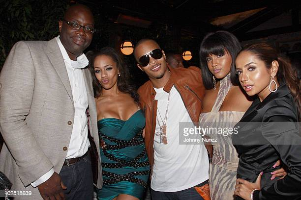 Mike Kyser Melyssa Ford TI Rosa Acosta and Shakur attend the Atlantic Records Party Presented By Swaggat Cecconi's Restaurant on June 27 2010 in Los...