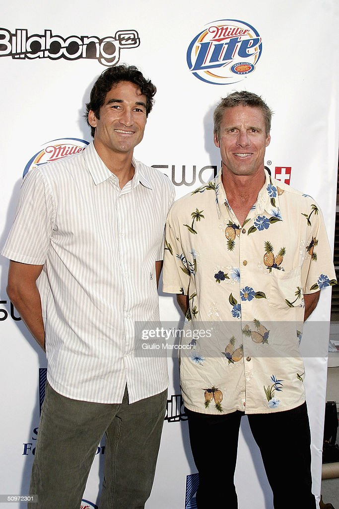 mike lambert l and karch kiraly attend the surfrider foundations 20th anniversary gala at