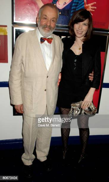 Mike Leigh and Sally Hawkins arrive at the UK premiere of 'HappyGoLucky' at Odeon in Camden on April 14 2008 in London England