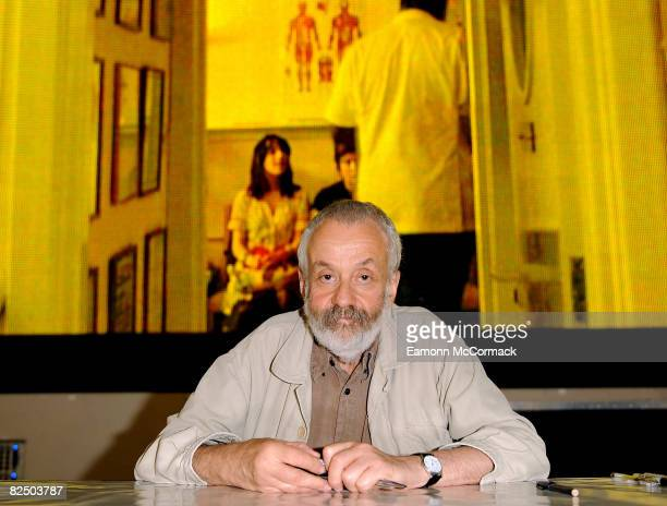 Mike Leigh attends an autograph signing session for the DVD Release of 'HappyGoLucky' at HMV on August 21 2008 in London England
