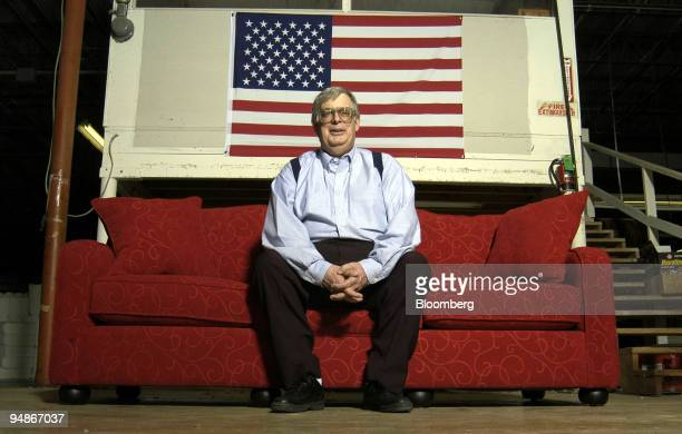 Mike Liedka president of WideBodies Furniture sits on a newlybuilt sofa at his company's factory in New Braunfels texas on Wednesday March 17 2004 As...