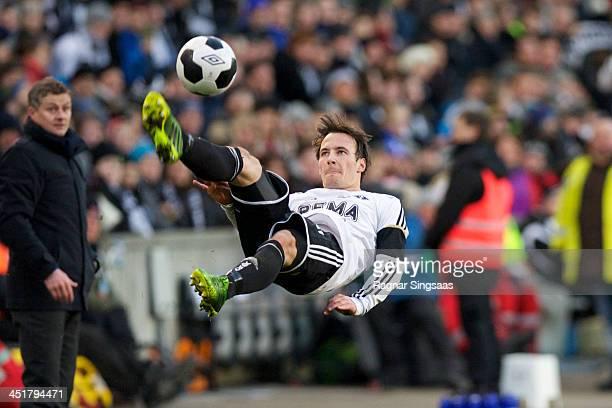 Mike Lindemann Jensen of Rosenborg BK in action during the Norwegian Cup Final between Molde FK and Rosenborg BK at Ullevaal Stadion on November 24...