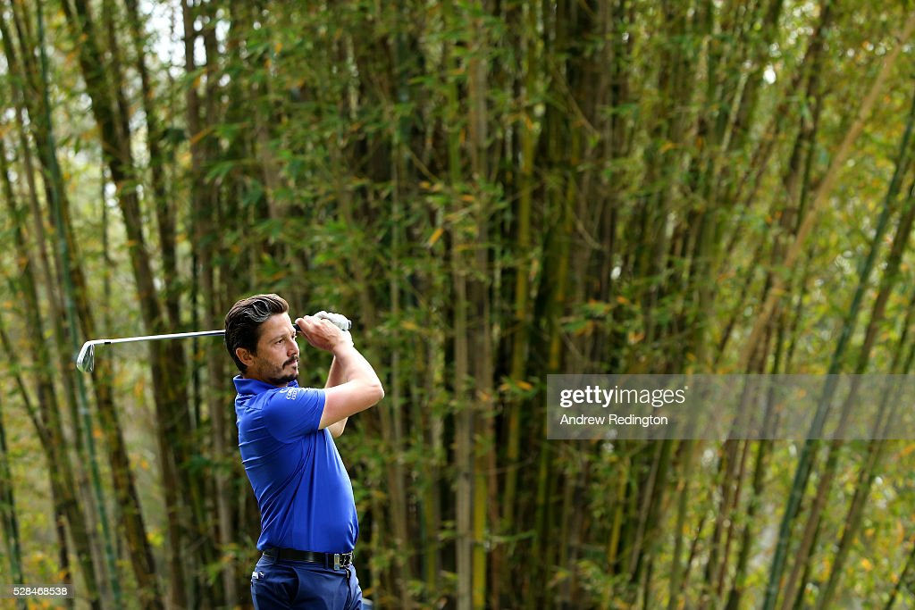 Mike Lorenzo-Vera of France hits his tee shot on the 17th during the first round of the Trophee Hassan II at Royal Golf Dar Es Salam on May 5, 2016 in Rabat, Morocco.