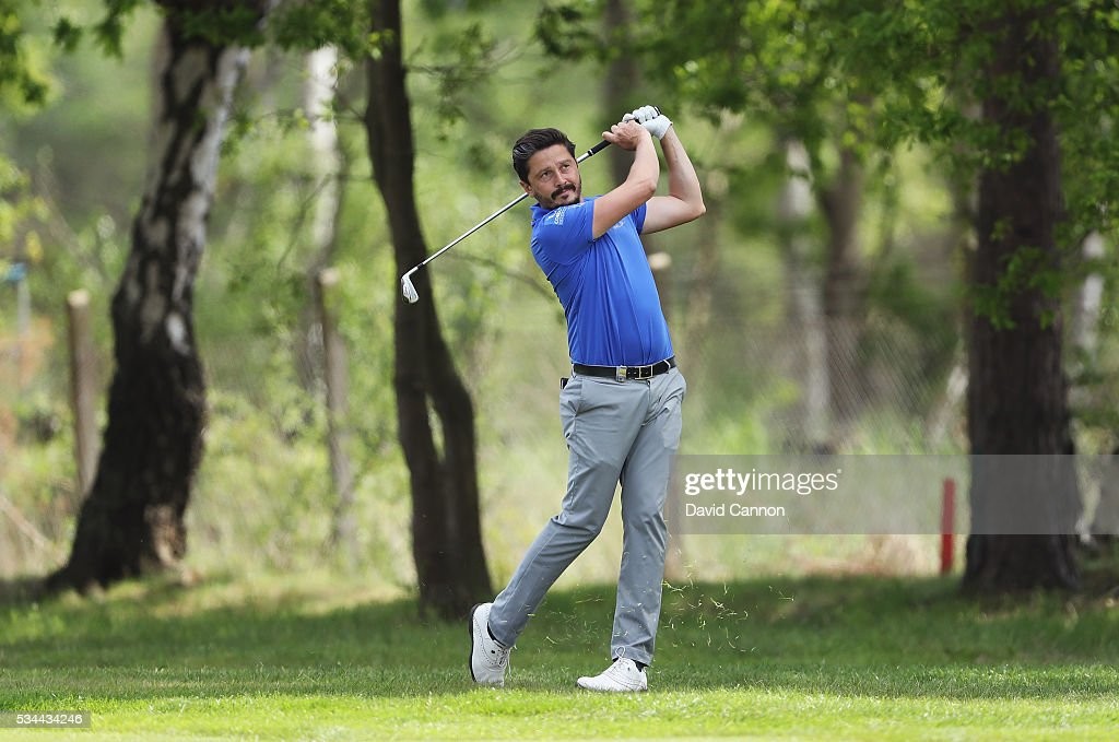 Mike Lorenzo-Vera of France in action during day one of the BMW PGA Championship at Wentworth on May 26, 2016 in Virginia Water, England.