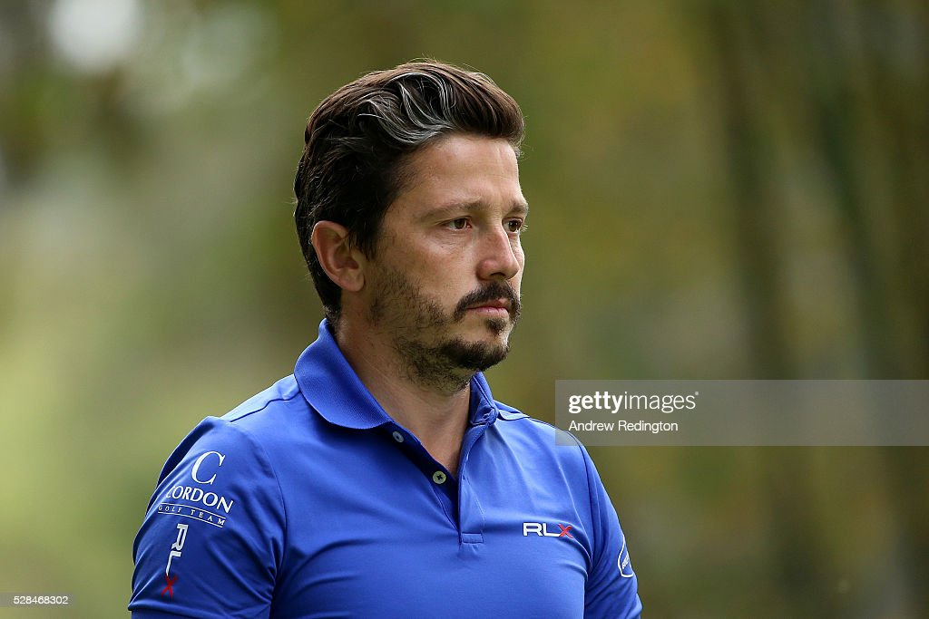 Mike Lorenzo-Vera of France looks on from the 17th during the first round of the Trophee Hassan II at Royal Golf Dar Es Salam on May 5, 2016 in Rabat, Morocco.