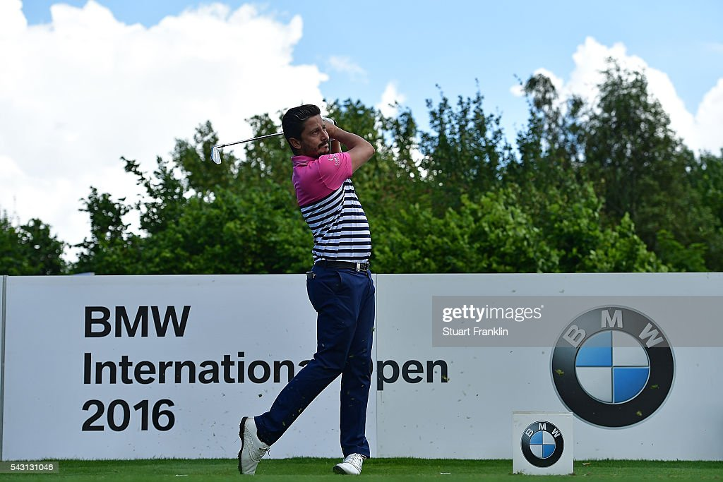 Mike Lorenzo-Vera of France tees off during the final round of the BMW International Open at Gut Larchenhof on June 26, 2016 in Cologne, Germany.