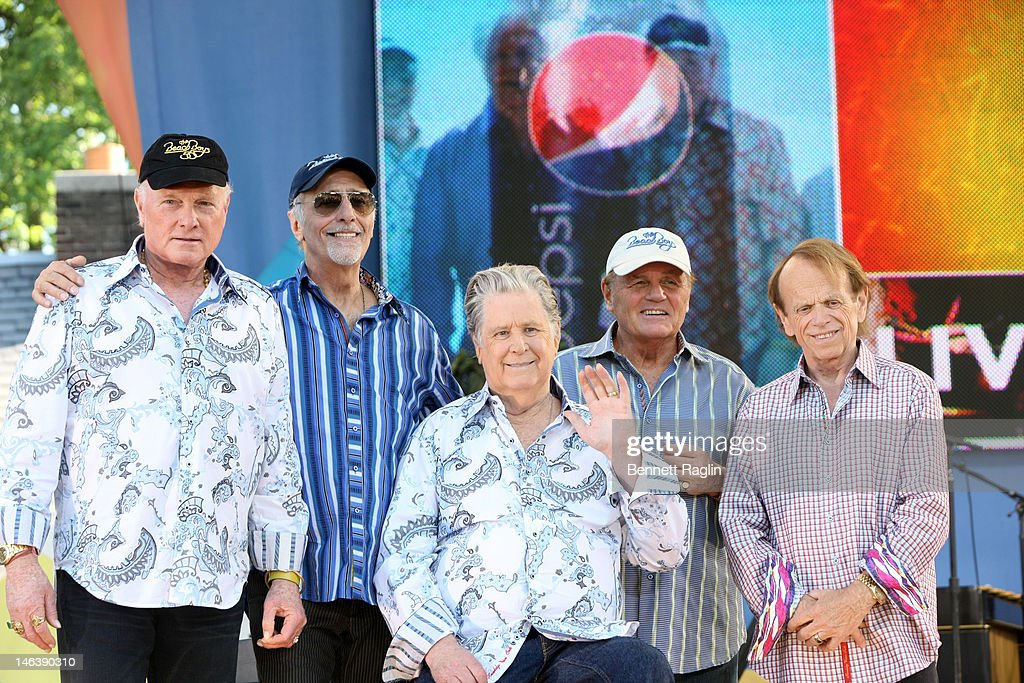 Mike Love, David Marks, Brian Wilson, Bruce Johnston, and Al Jardine of The Beach Boys performs on ABC's 'Good Morning America' at Rumsey Playfield, Central Park on June 15, 2012 in New York City.