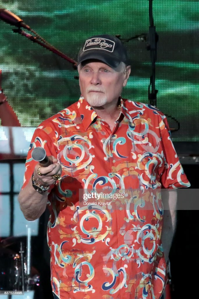 Mike Love lead singer of the Beach Boys performs at The Music Pier on August 22, 2017 in Ocean City, New Jersey.