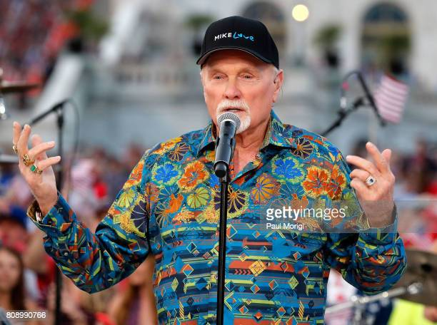 Mike Love of The Beach Boys performs at A Capitol Fourth at US Capitol West Lawn on July 4 2017 in Washington DC