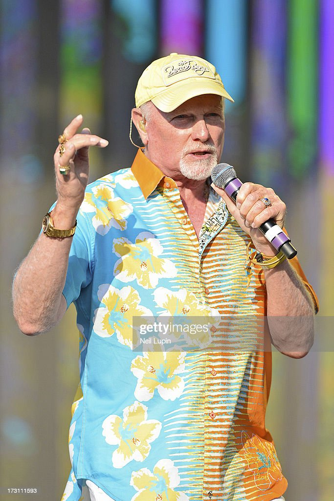 <a gi-track='captionPersonalityLinkClicked' href=/galleries/search?phrase=Mike+Love&family=editorial&specificpeople=93771 ng-click='$event.stopPropagation()'>Mike Love</a> of The Beach Boys performs at day 3 of British Summer Time Hyde Park presented by Barclaycard at Hyde Park on July 7, 2013 in London, England.