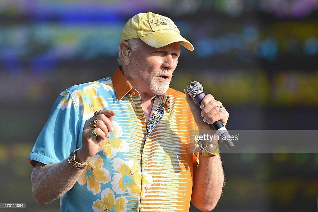 Mike Love of The Beach Boys performs at day 3 of British Summer Time Hyde Park presented by Barclaycard at Hyde Park on July 7, 2013 in London, England.