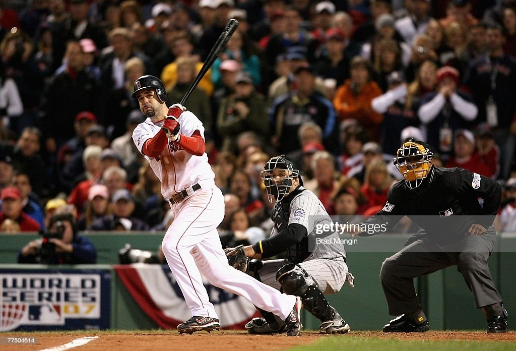 Image result for mike lowell double 2007 world series
