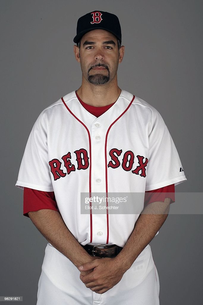 Mike Lowell of the Boston Red Sox poses during Photo Day on Sunday February 28 2010 at City of Palms Park in Fort Myers Florida