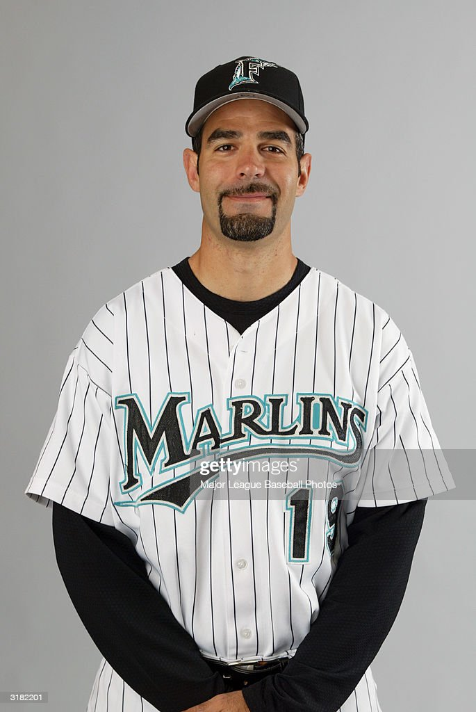 Mike Lowell of the Florida Marlins on February 28 2004 in Jupiter Florida
