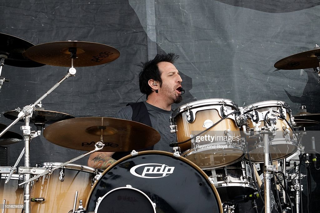 Mike Luce of Drowning Pool performs at Columbus Crew Stadium in Columbus, Ohio on MAY