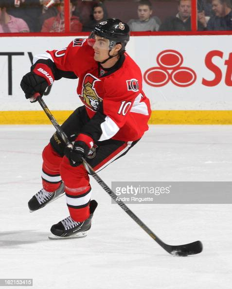 Mike Lundin of the Ottawa Senators skates against the Buffalo Sabres on February 12 2013 at Scotiabank Place in Ottawa Ontario Canada