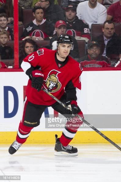 Mike Lundin of the Ottawa Senators skates in his debut as a member of the the Ottawa Senators during an NHL game against the Carolina Hurricanes at...