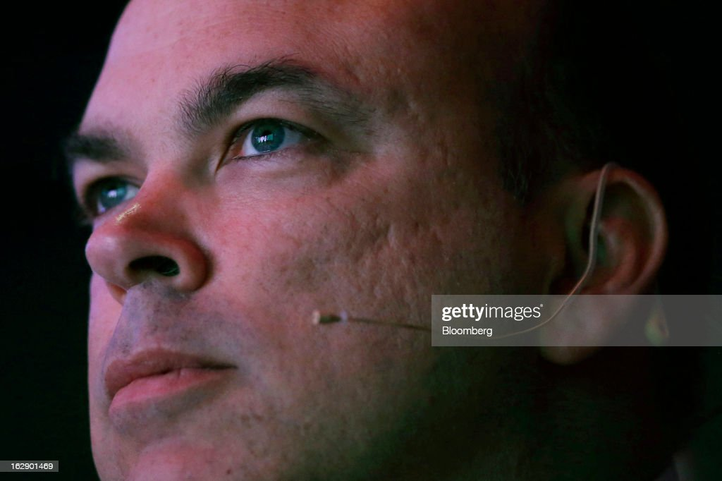 Mike Lynch, former chief executive officer of Autonomy Corp., pauses during the London Web Summit in London, U.K., on Friday, March 1, 2013. Autonomy Corp's financial reporting in the years leading up to Hewlett-Packard Co.'s acquisition is being investigated by the U.K. accounting regulator. Photographer: Matthew Lloyd/Bloomberg via Getty Images