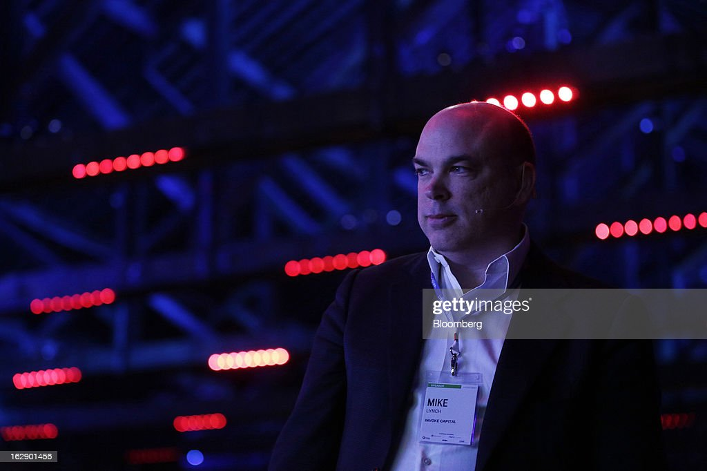Mike Lynch, former chief executive officer of Autonomy Corp., prepares to speak during the London Web Summit in London, U.K., on Friday, March 1, 2013. Autonomy Corp's financial reporting in the years leading up to Hewlett-Packard Co.'s acquisition is being investigated by the U.K. accounting regulator. Photographer: Matthew Lloyd/Bloomberg via Getty Images