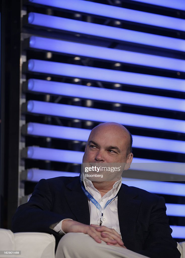 Mike Lynch, former chief executive officer of Autonomy Corp., reacts during the London Web Summit in London, U.K., on Friday, March 1, 2013. Autonomy Corp's financial reporting in the years leading up to Hewlett-Packard Co.'s acquisition is being investigated by the U.K. accounting regulator. Photographer: Matthew Lloyd/Bloomberg via Getty Images