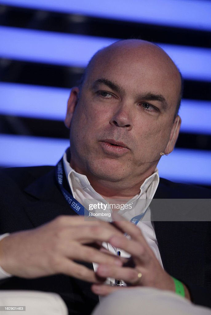 Mike Lynch, former chief executive officer of Autonomy Corp., speaks during the London Web Summit in London, U.K., on Friday, March 1, 2013. Autonomy Corp's financial reporting in the years leading up to Hewlett-Packard Co.'s acquisition is being investigated by the U.K. accounting regulator. Photographer: Matthew Lloyd/Bloomberg via Getty Images